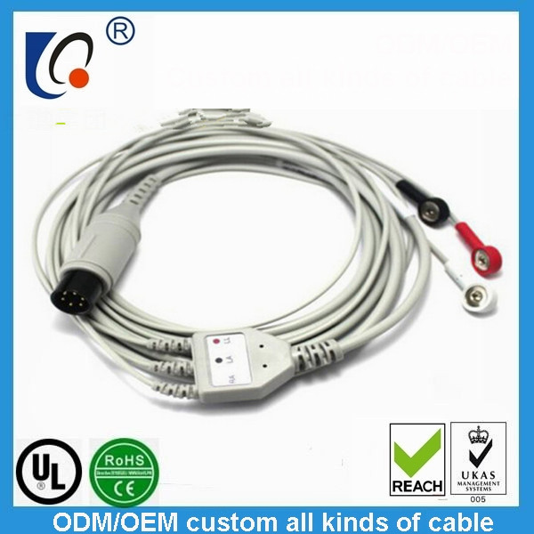 Dynamic ecg cable