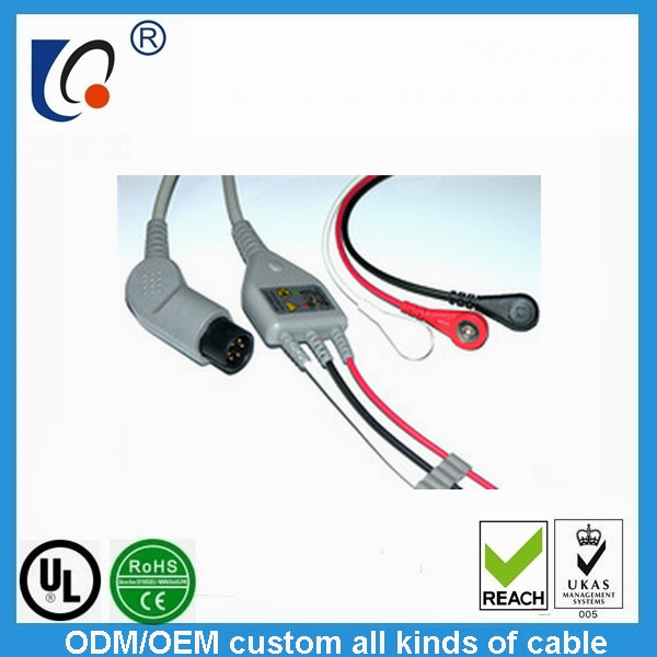 5 Lead ECG Cable for PHYSIO-CONTROL and NIHON KOHDEN