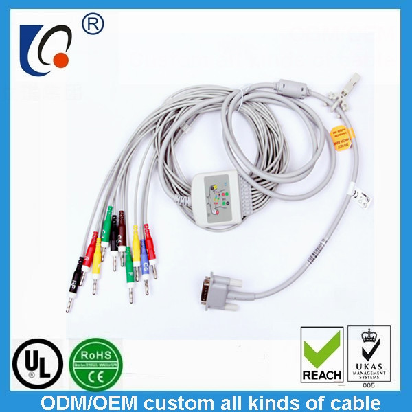 Banana  10 leads  ECG cable
