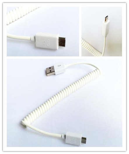 micro,usb data line,flexible&spring  SAMSUNG HTC MI MOBILE CABLE