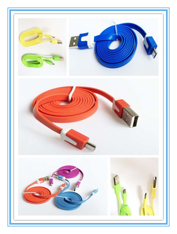 SAMSUNG HTC MI MOBILE CABLE,MICRO, USB COLORFUL NOODLE