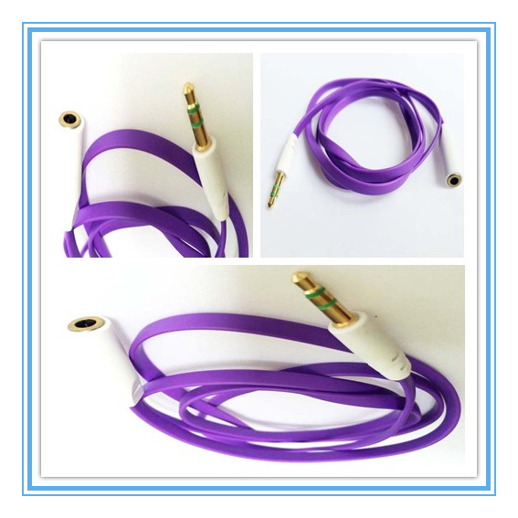 headset frequency extension cord,noodle corlorful extension cord