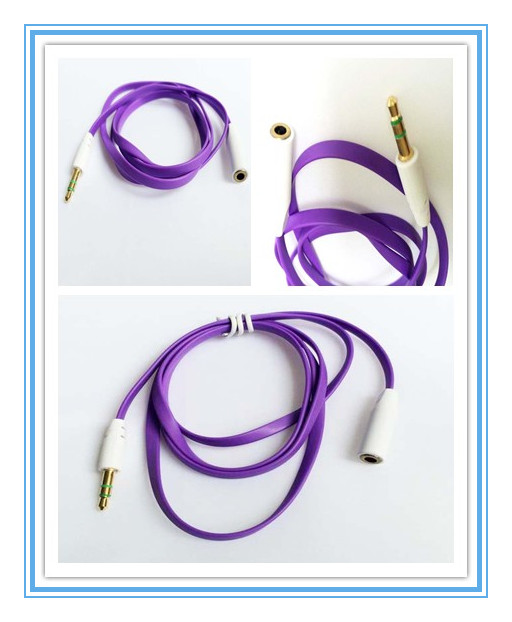 CORLORFUL CRYSTAL EARPHONE FREQUENCY EXTENSION CORD, 3.5MM LENGTHENING CABLE