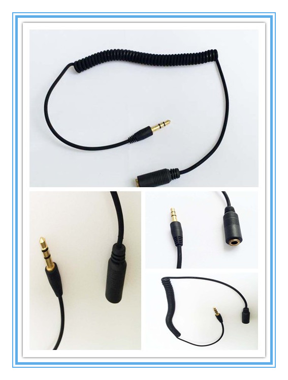 SPRING EARPHONE EXTENSION CORD,FLEXIBLE&SPRING CHARGING CABLE