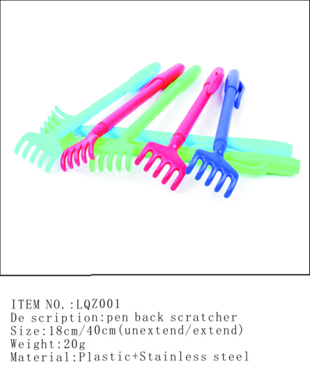 LQZ001  Plastic pen back scratcher