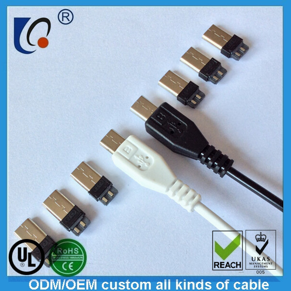 Micro usb and micro see male head micro5p and head of the usb connector two or three short circuit